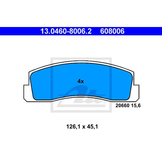 13.0460-8006.2 - Brake Pad Set, disc brake