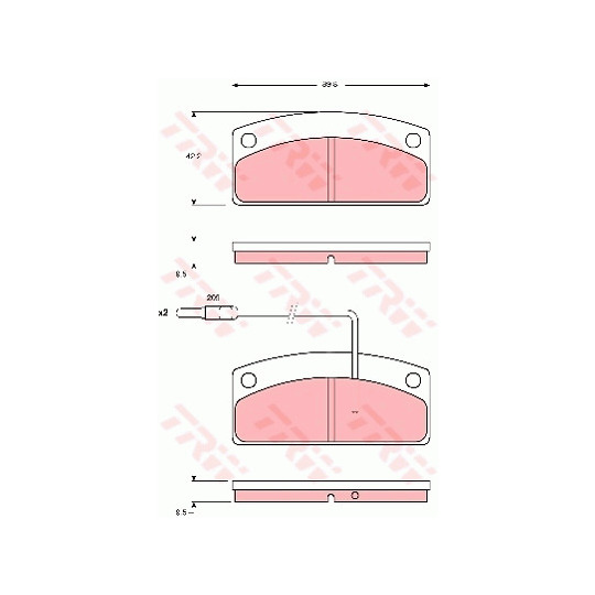 GDB1679 - Brake Pad Set, disc brake