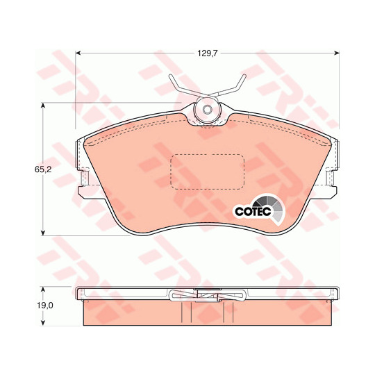 GDB1092 - Brake Pad Set, disc brake