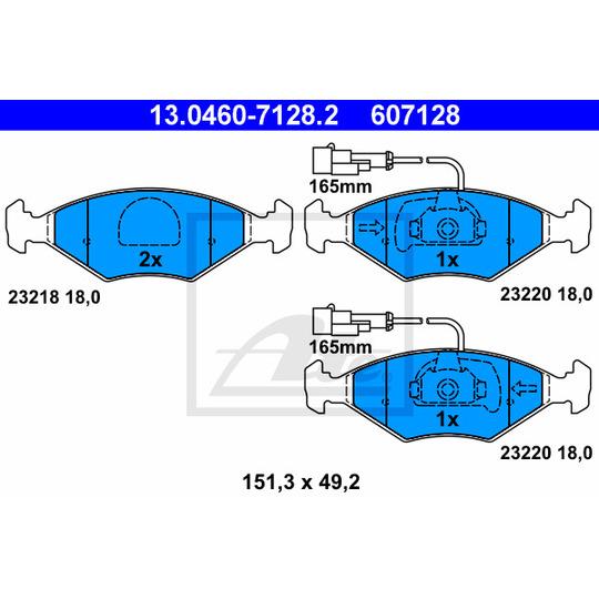 13.0460-7128.2 - Brake Pad Set, disc brake