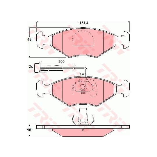 GDB1340 - Brake Pad Set, disc brake