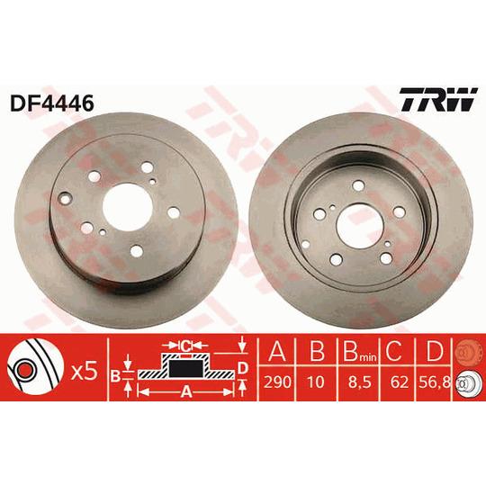 DF4446 - Brake Disc
