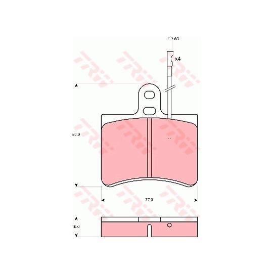 GDB145 - Piduriklotsi komplekt, ketaspidur