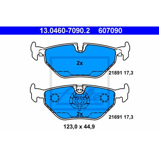 13.0460-7090.2 - Brake Pad Set, disc brake