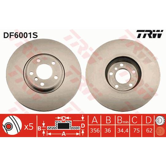 DF6001S - Brake Disc