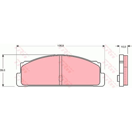 GDB107 - Bromsbeläggssats, skivbroms