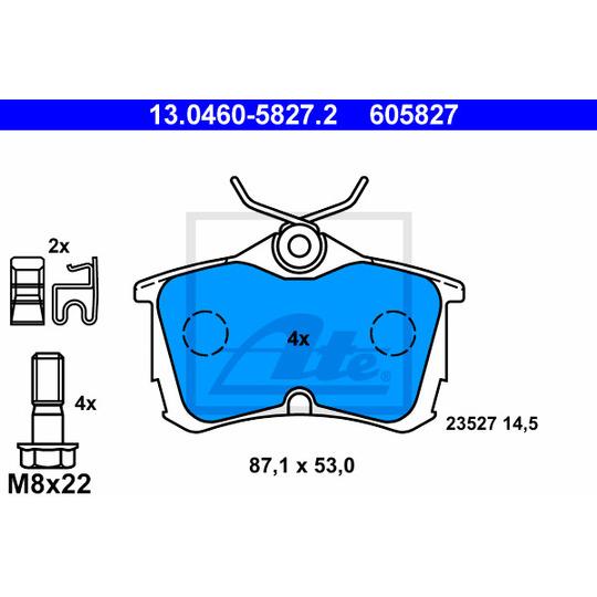 13.0460-5827.2 - Brake Pad Set, disc brake