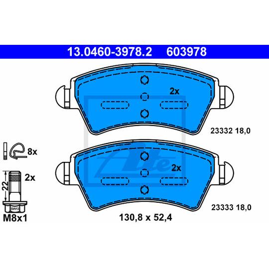 13.0460-3978.2 - Brake Pad Set, disc brake