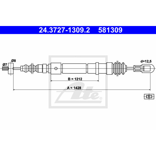 24.3727-1309.2 - Cable, parking brake