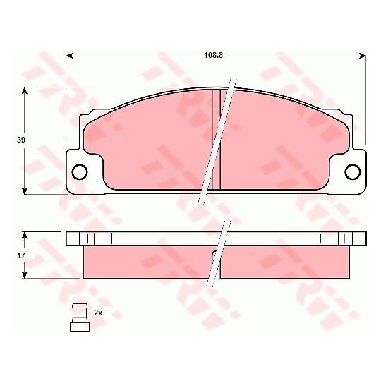 GDB296 - Brake Pad Set, disc brake