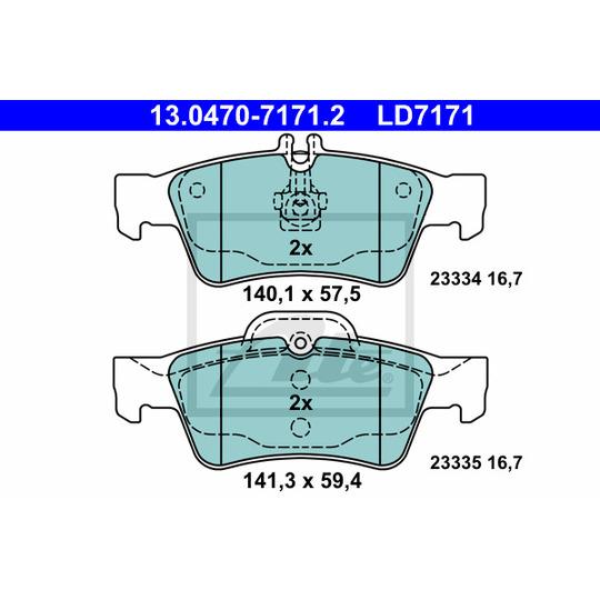 13.0470-7171.2 - Brake Pad Set, disc brake