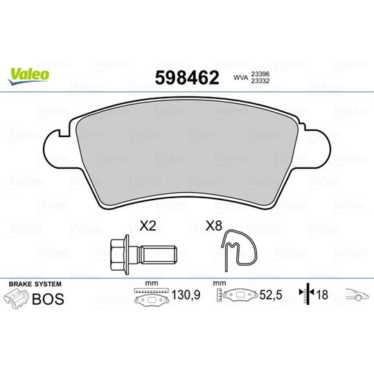 598462 - Brake Pad Set, disc brake