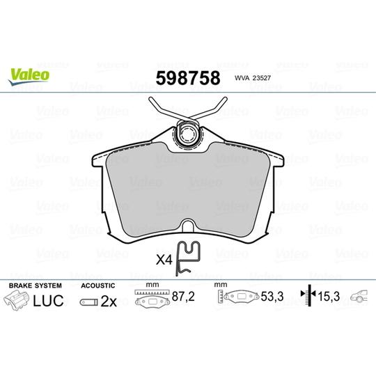598758 - Brake Pad Set, disc brake