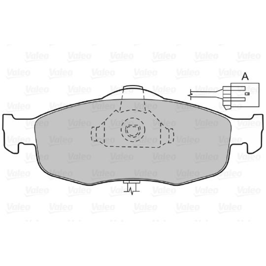 598034 - Brake Pad Set, disc brake
