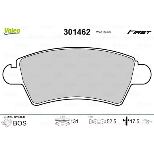 301462 - Brake Pad Set, disc brake